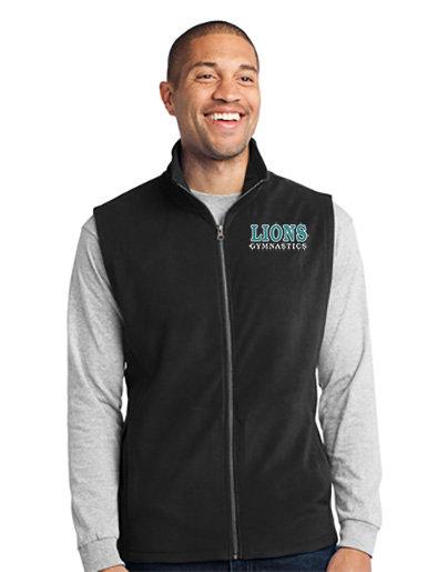 LionsGymnastics-Men's Full Zip Fleece Vest