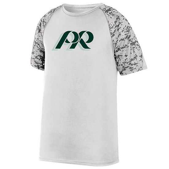 PRHance-Youth Short Sleeve Digi Camo Dri Fit-PR Logo