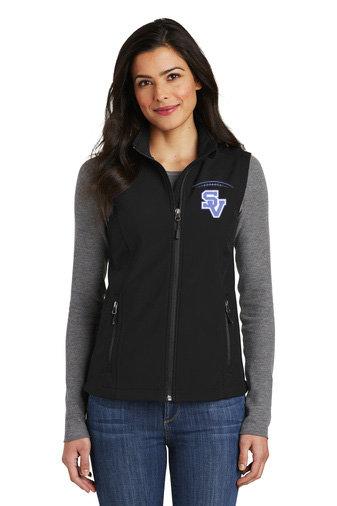 SVJuniorFootball-Women's Full Zip Soft Shell Vest