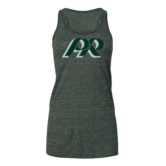 PRHance-Bling Women's Razorback Tank-PR Logo