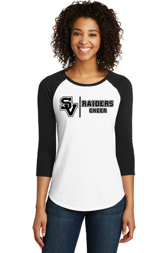 SVJuniorFootball-Women's Baseball Style Shirt-Cheer Logo 1