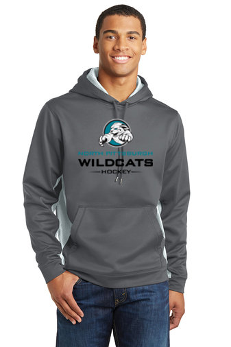 NP Wildcats-Performance Hoodie Camohex Sides-Wildcat Logo 2