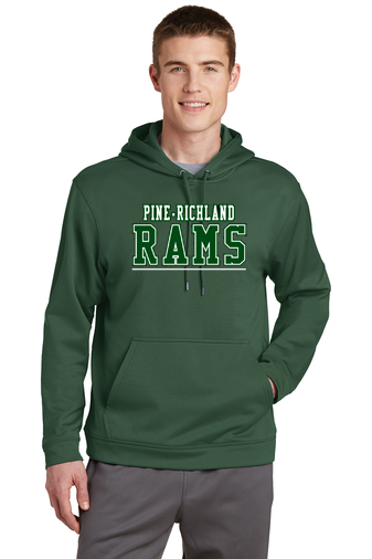 PRHance-Youth Performance Hoodie-PR Rams Design