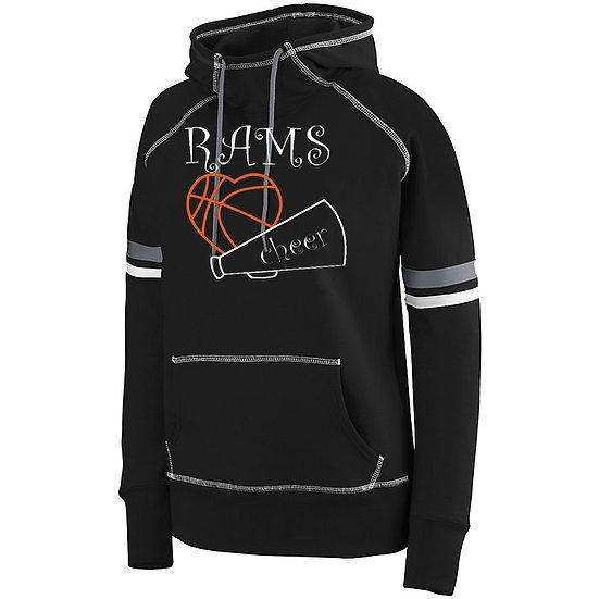 PRCheer-Women's Spry Hoodie-PR Rams Basketball Logo