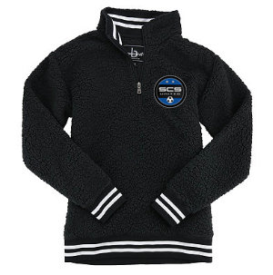 SCS-Unisex Sherpa Quarter Zip Pullover
