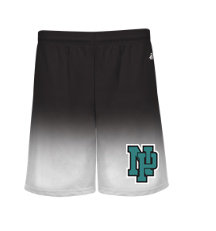 NP Wildcats-Athletic Ombre Shorts