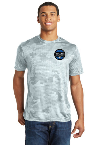 SCS-Camohex Short Sleeve Dri Fit Shirt-Left Chest Logo