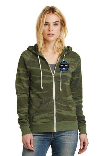 SCS-Women's Camo Full Zip Sweatshirt
