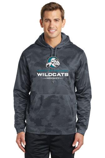 NP Wildcats-Performance Camohex Hoodie-Wildcat Logo 2