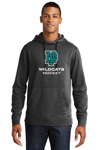 NP Wildcats-Men's New Era Tri-Blend Hoodie-NP Logo