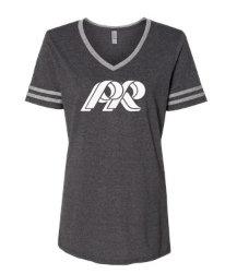 PREden-Women's Varsity Stripe-White PR Logo