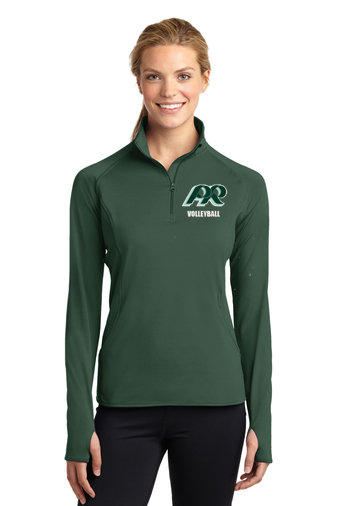 PRVolleyball-Embroidered Women's Sport Wick Quarter Zip Jacket