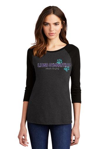 LionsGymnastics-Women's Baseball Style Shirt-Logo 2