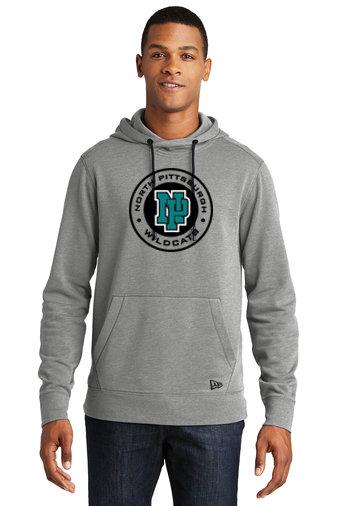 NP Wildcats-Men's New Era Tri-Blend Hoodie-Round Logo