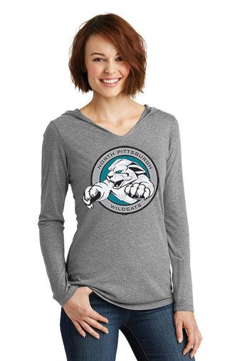 NP Wildcats-Women's Hooded Long Sleeve Shirt