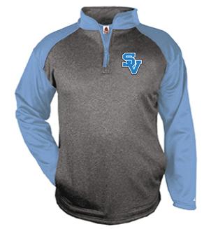 SVGirlsSoccer-Badger Tonal Quarter Zip Jacket