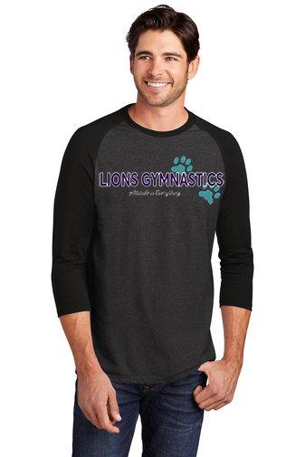 LionsGymnastics-Men's Baseball Style Shirt-Logo 2