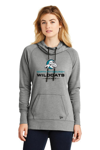 NP Wildcats-Women's New Era Tri-Blend Hoodie-Wildcat Logo 2