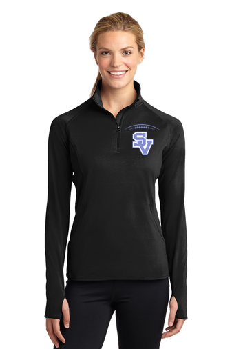 SVFootball-Embroidered Women's Sport Wick Quarter Zip Jacket