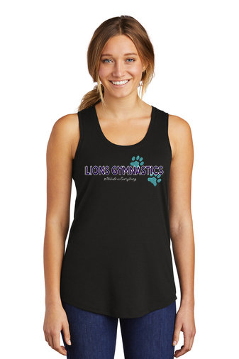 LionsGymnastics-Women's District Razorback Tank-Logo 2