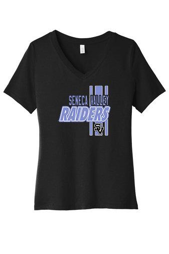 SVEvansCity-Black Women's V-Neck Shirt