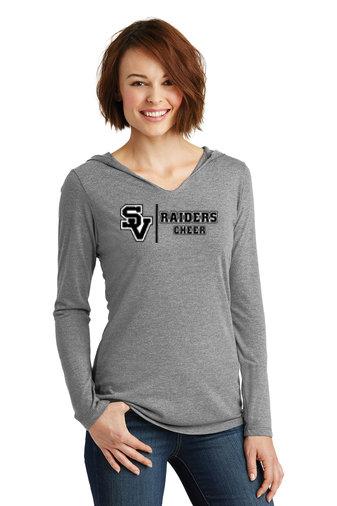 SVJuniorFootball-Women's Hooded Long Sleeve Shirt-Cheer Logo 1