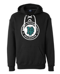 NP Wildcats-Lace Up Hoodie-Wildcat Round Logo