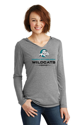 NP Wildcats-Women's Hooded Long Sleeve Shirt-Wildcat Logo 2