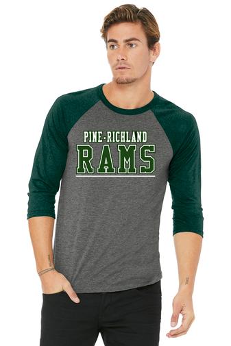PREden-Baseball Style Shirt-PR Rams Logo