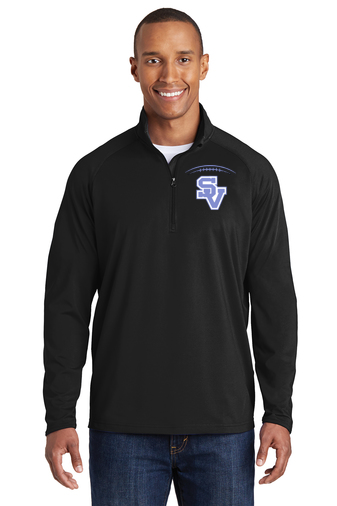 SVFootball-Embroidered Men's Sport Wick Quarter Zip Jacket
