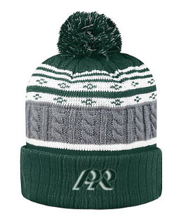 PREden-Top of the World Striped Pom Beanie