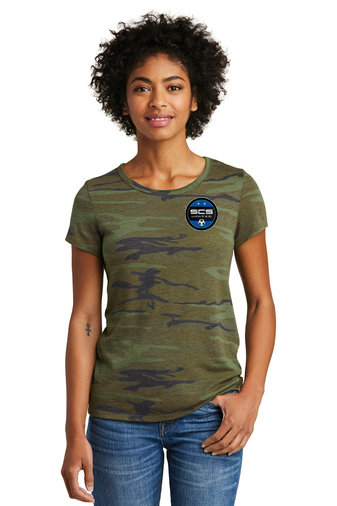 SCS-Women's Camo Short Sleeve Shirt-Left Chest Logo