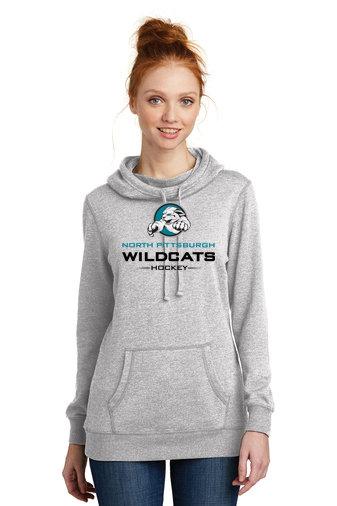 NP Wildcats-Women's Lightweight Hoodie-Wildcat Logo 2