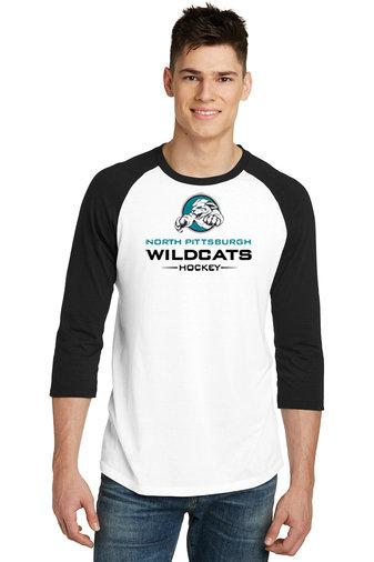 NP Wildcats-Baseball Style Shirt-Wildcat Logo 2