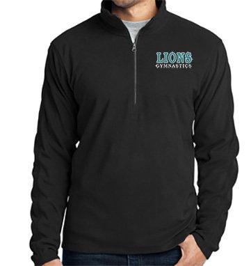 LionsGymnastics-Men's Quarter Zip Fleece Jacket