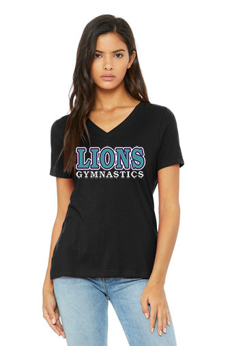 LionsGymnastics-Women's Short Sleeve V-Neck