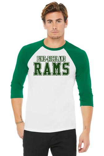 PREden-Youth Baseball Style Shirt-PR Rams Logo