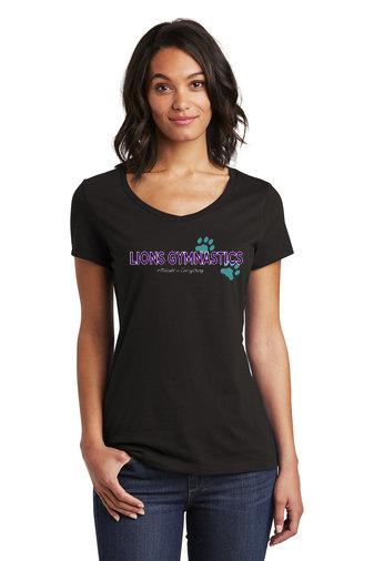 LionsGymnastics-Women's District Soft Style Shirt-Logo 2