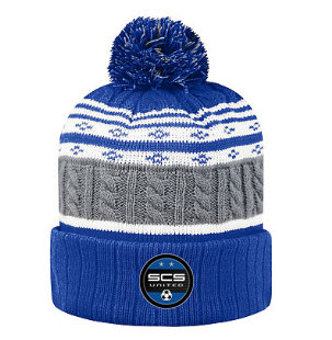 SCS-Top of the World Striped Pom Beanie