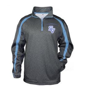 SVJuniorFootball-Badger Fusion Quarter Zip Jacket