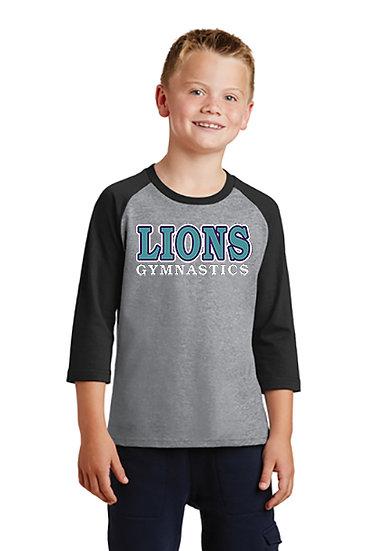 LionsGymnastics-Youth Baseball Style Shirt
