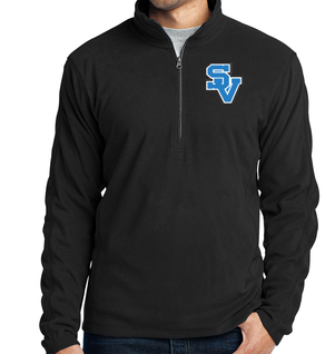 SVCVE-Men's Quarter Zip Fleece Jacket