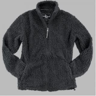 FlashSale!-Women's Gray Full Zip Sherpa