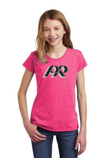 PRHS-Girls Pink Shirt-PR Logo