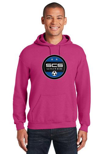 SCS-Pink Hoodie-Round Logo
