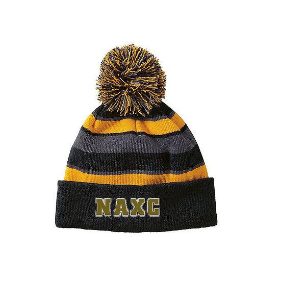 NAXC-Striped Pom Beanie