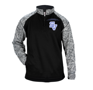 SVFootball-Badger Sport Blend Quarter Zip Jacket