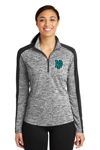 NP Wildcats-Women's Quarter Zip Electric Jacket