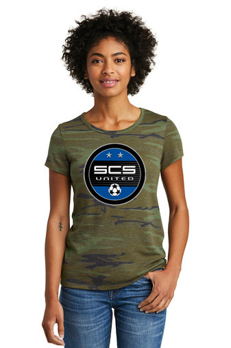 SCS-Women's Camo Short Sleeve Shirt-Round Logo