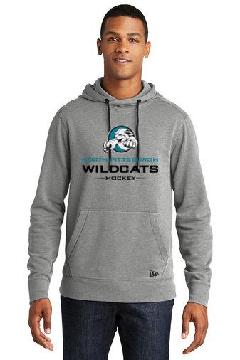 NP Wildcats-Men's New Era Tri-Blend Hoodie-Wildcat Logo 2